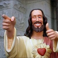 Hip Jesus ok with sin jesus-thumps-up