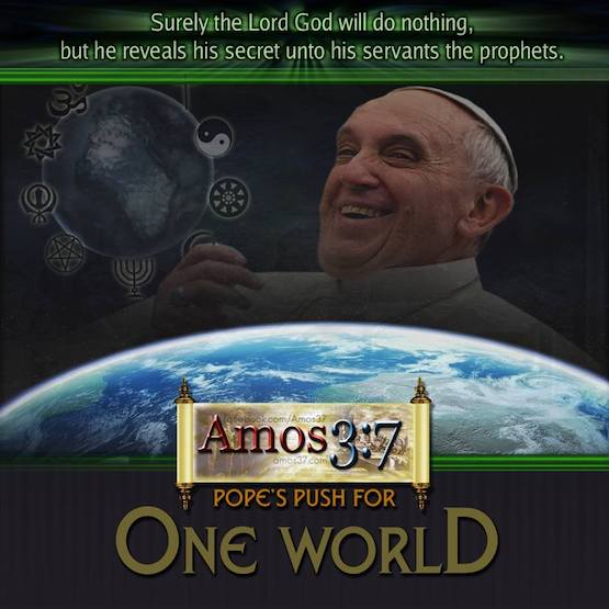 Pope's Push For One World
