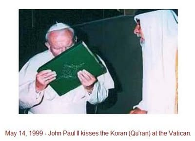 Pope kissing quran Islam & Rome Connection