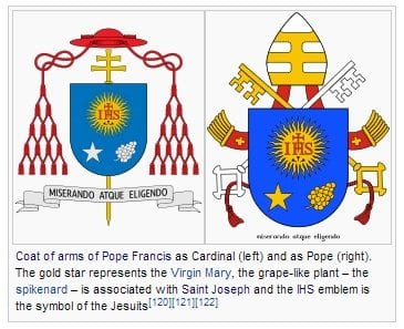 Pope Francis, Papal, Coat of Arms,