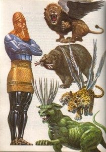 Daniel ch 7 Vision 4 beasts Times of the gentiles comparison
