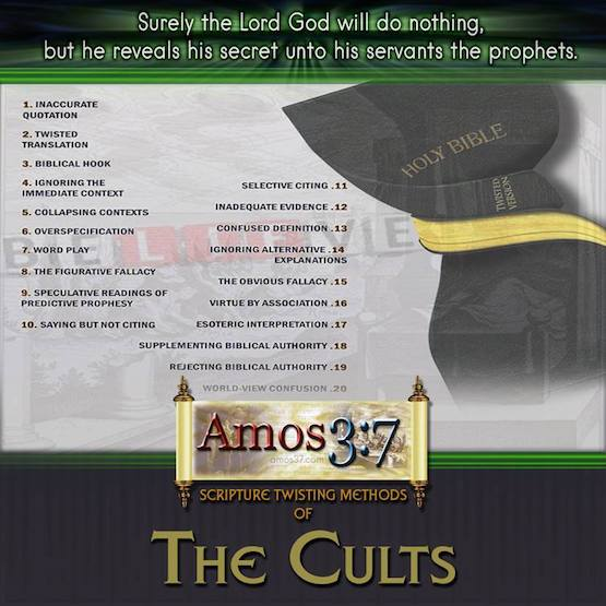 Cults, Apologetics, Scripture twisting,