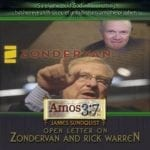 James Sundquist Open Letter on Zondervan and Rick Warren