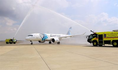First time: Egyptair plane lands at Ben Gurion Airport